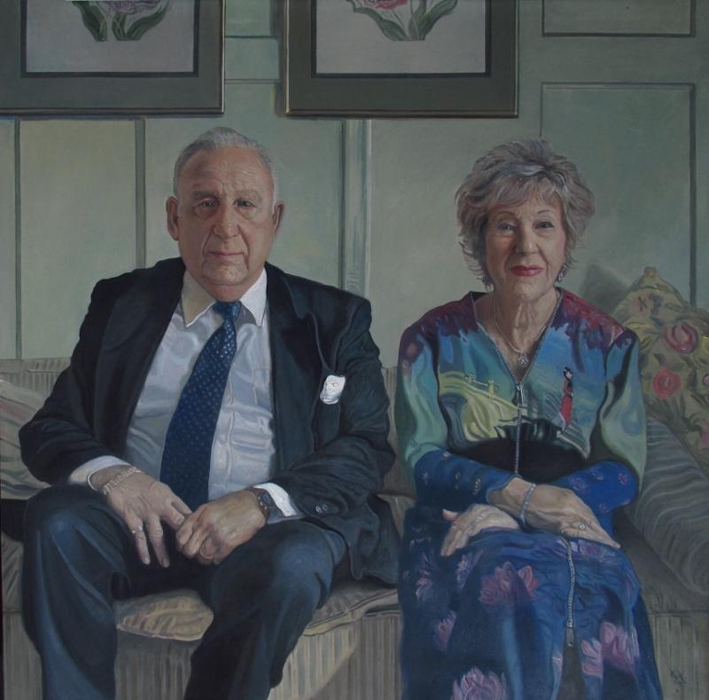 couple portrait painting