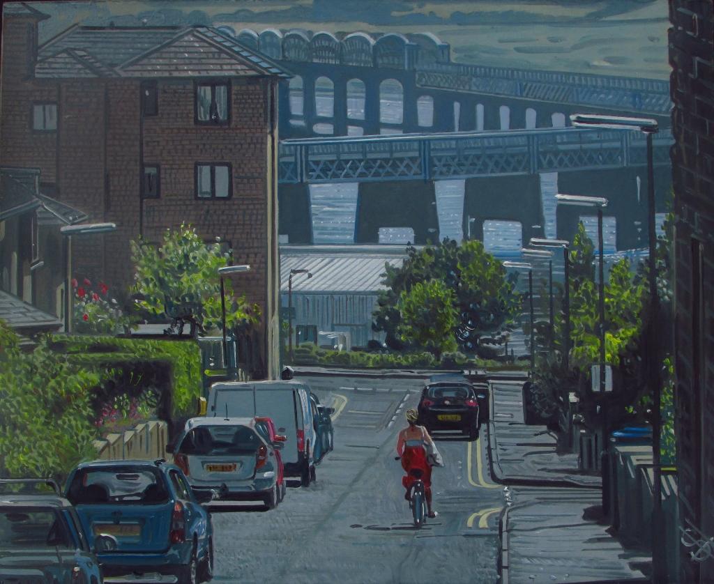 Dundee Scotland Painting Tay Rail Bridge