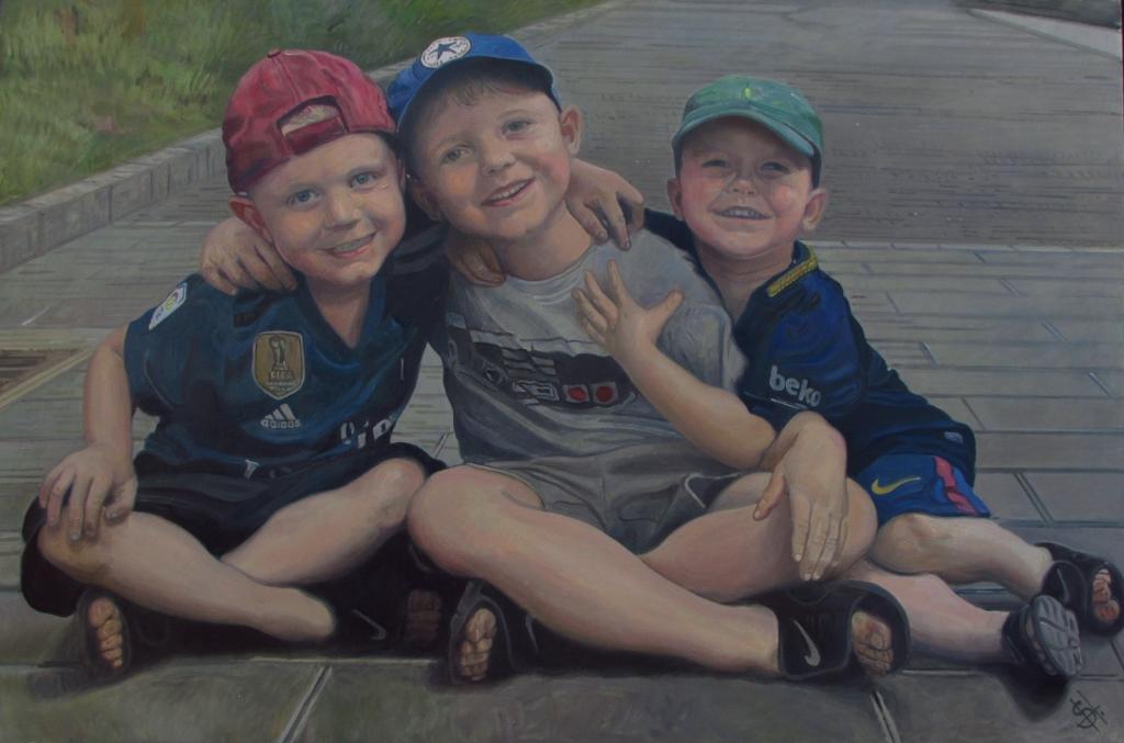 Children's portrait painting UK