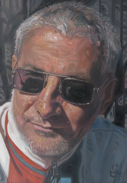 Portrait of Jackie painted by Dundee artist Steven Higginson